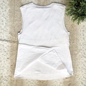 Banana Republic Tops - Banana Republic White Cotton Linen Slit Back Tank